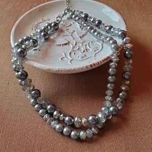 Liz Claiborne Double Stranded Necklace